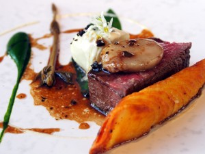 Aged Fillet of Belted Galloway Beef with Celeriac Baked in Juniper and Wild Hops