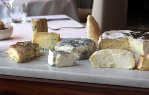 cheese selection at The Ledbury
