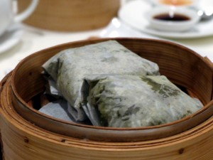 Sticky rice cooked in lotus leaf | Royal China Queensway