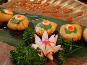 dancing scallops | Pham Sushi | Yvanne Teo