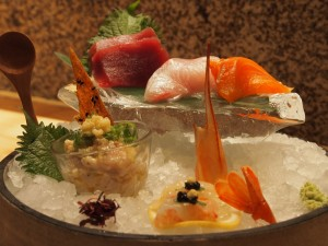 sashimi selection at Roka Charlotte Street