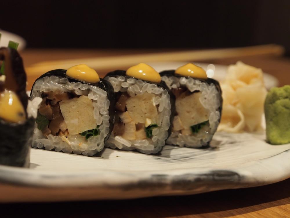 mushroom & tofu maki - Roka Aldwych | ytTastes | Yvanne Teo